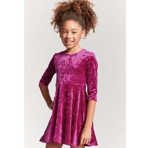 Forever 21 burgundy velvet dress